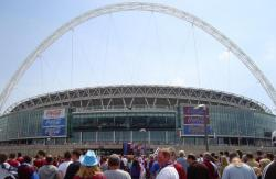 An image of Wembley Stadium uploaded by facebook-user-26454