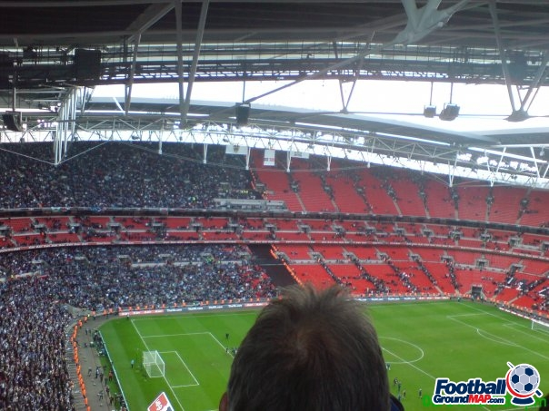 A photo of Wembley Stadium uploaded by thomasfish