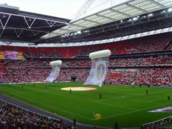 An image of Wembley Stadium uploaded by facebook-user-54167