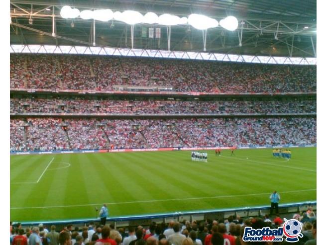 A photo of Wembley Stadium uploaded by simon