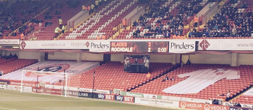 Final score: Blades 3-2 Rochdale