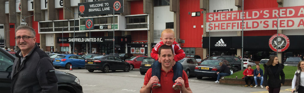 Alex and Daddy at the South Stand
