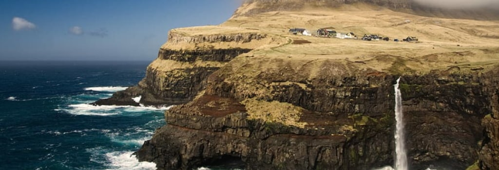 The Faroe Islands provide one of the most stunning backgrounds for an international game of footy