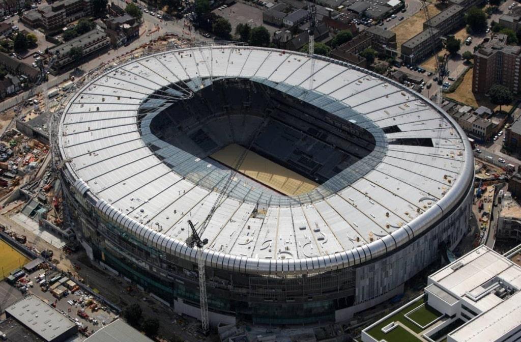 Construction work at Spurs' new Tottenham Hotspur Stadium