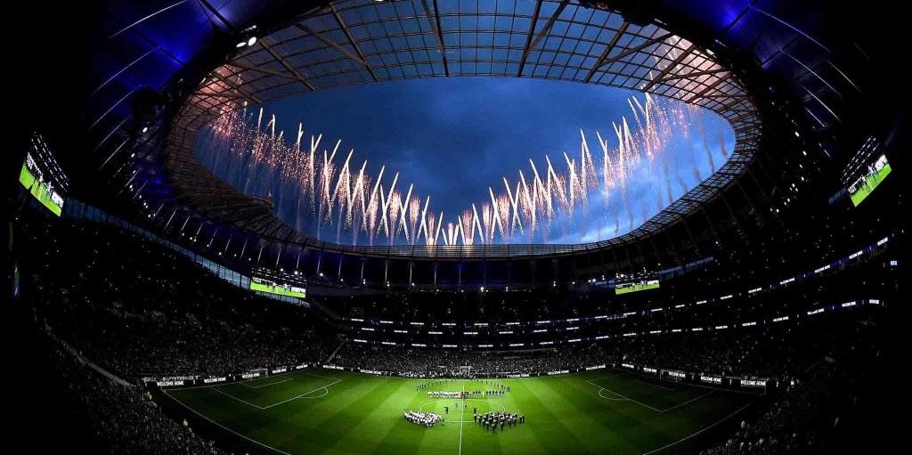 Fireworks at Spurs' new Tottenham Hotspur Stadium