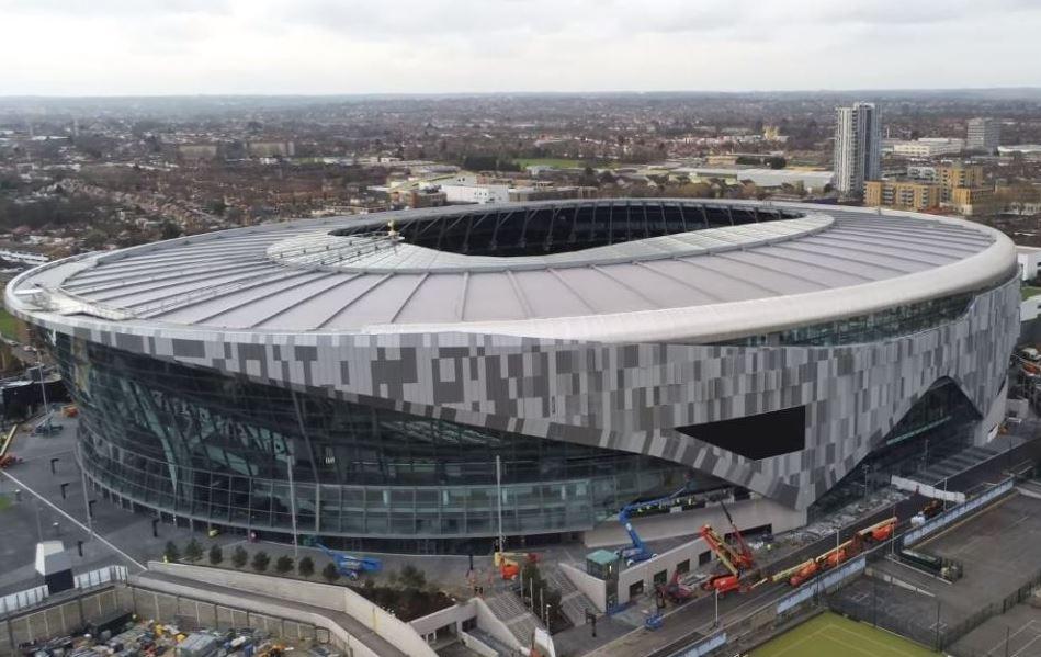 Exterior shot of Tottenham Hotspur stadium