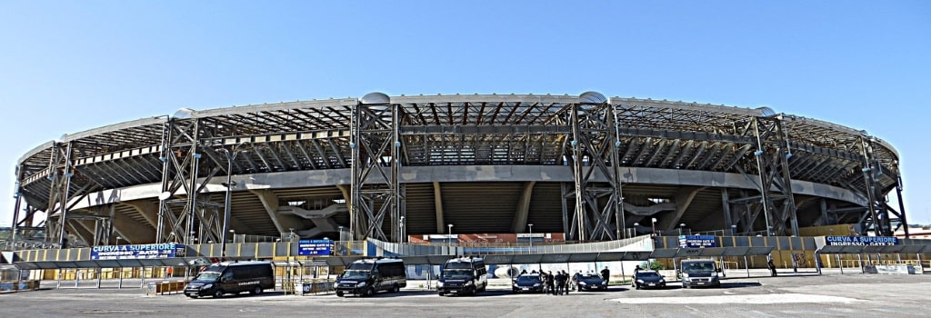 Outside of the Stadio San Paolo