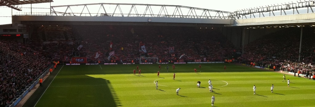Anfield - home to Liverpool FC