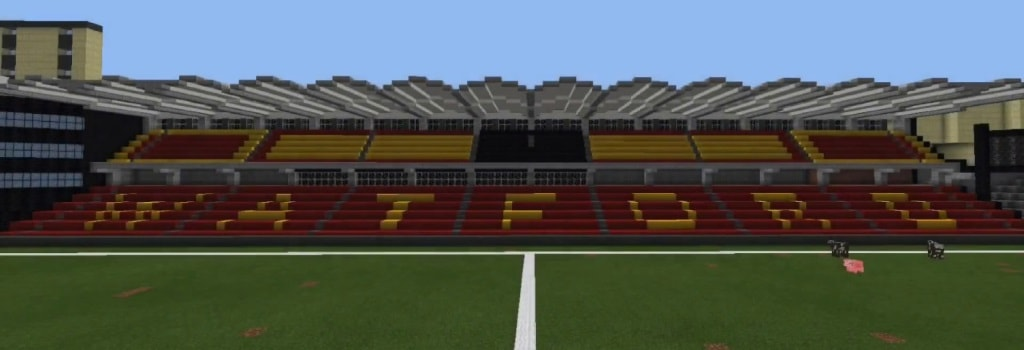 Create a football stadium on Minecraft