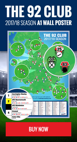 Get the 92 Club map poster - 2017/2018 season