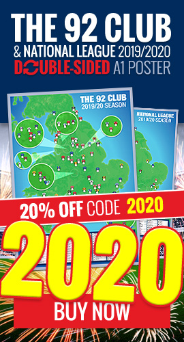 Get the double-sided 92 Club & National League map poster - 2019/2020 season