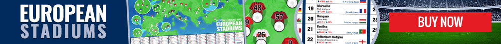Buy our exclusive European football stadium poster