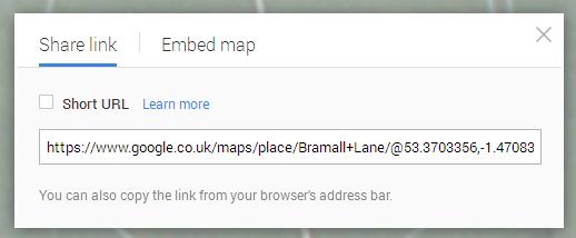 Google Maps Share Link 2