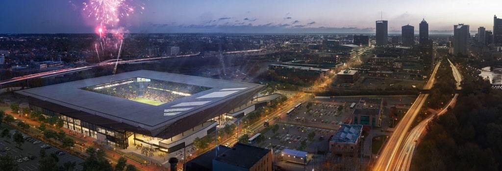 New Columbus Crew stadium: Aerial