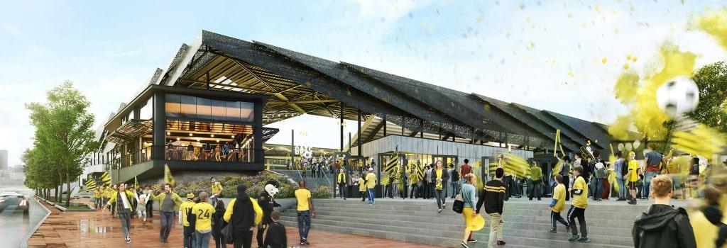 New Columbus Crew stadium: Entrance