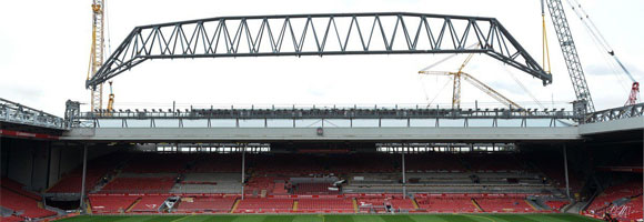 New stand taking shape at Anfield