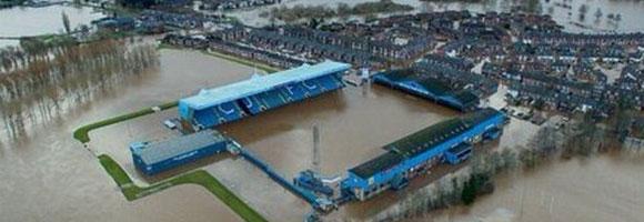 Brunton Park flooded again