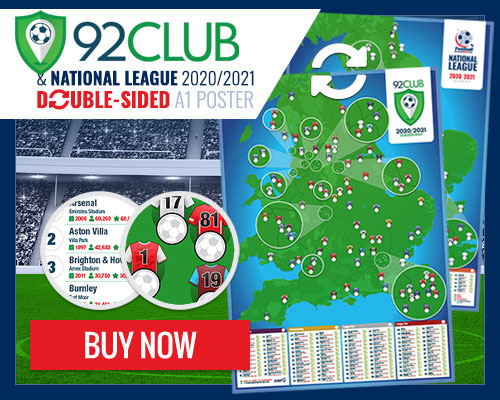 92 Club & National League wall poster
