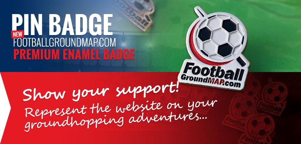 football ground map.com website logo pin badge