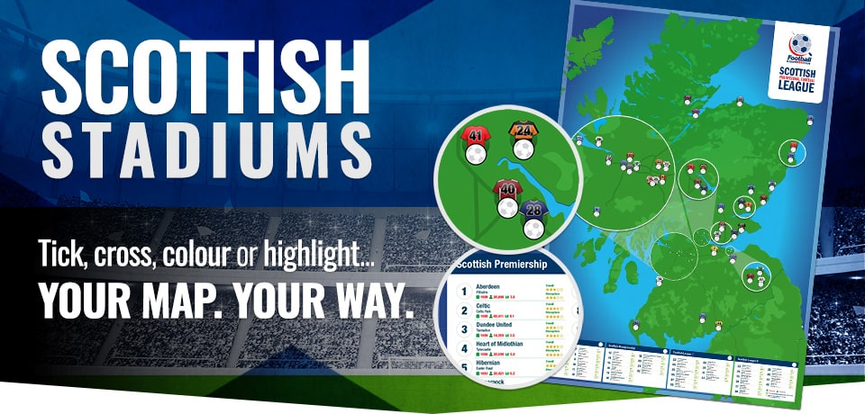 Scotland Football Stadium Poster - 2021/2022 season