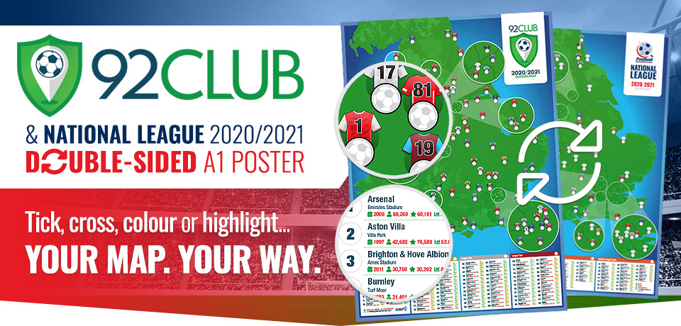 2020/2021 92 Club and National League Football Stadium Poster