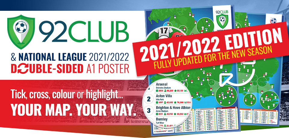 2021/2022 92 Club and National League Football Stadium Poster