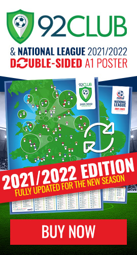 Get the double-sided 92 Club & National League map poster - 2020/2021 season