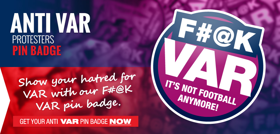 F#@k VAR pin badge